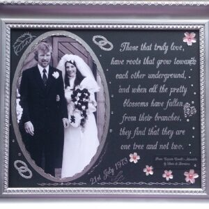Photo mount wedding anniversary